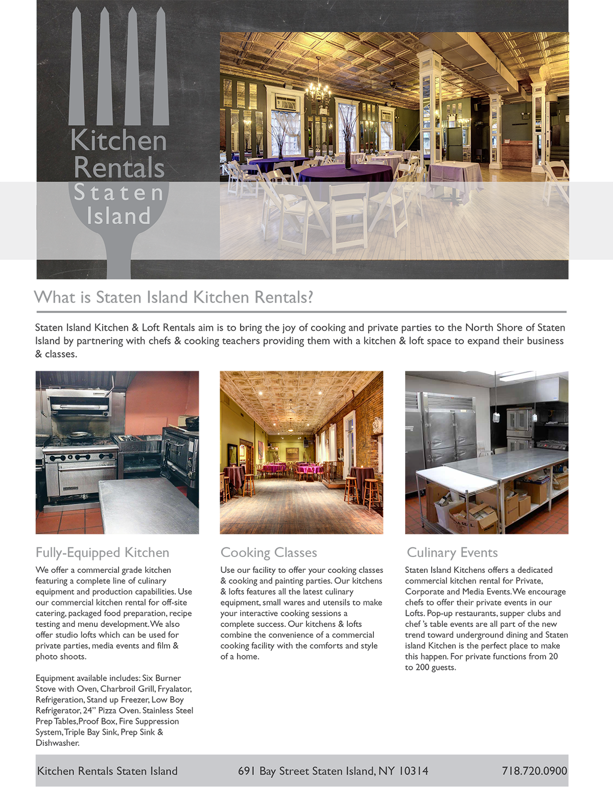 Staten Island Kitchen Rentals | Staten Island Party Rentals